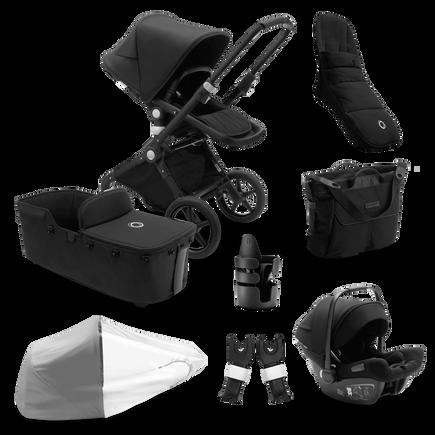 Bugaboo Lynx Ready to go bundle black sun canopy, black fabrics, black base