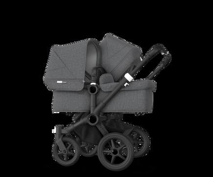 US - Bugaboo D3D stroller bundle black grey melange grey melange