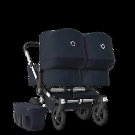 EU Bugaboo Donkey 2 Twin Seat and Bassinet Classic Dark Navy, Aluminium Chassis