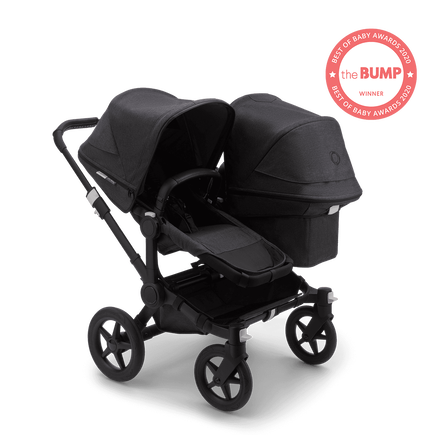 US - Bugaboo D3D stroller bundle mineral BLACK/WASHED BLACK