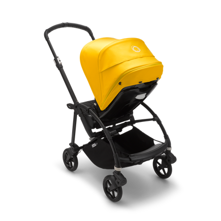 US - B6 seat stroller bundle black, black, lemon yellow