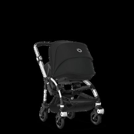Bugaboo Bee 5 travel system black sun canopy, black fabrics, aluminium base