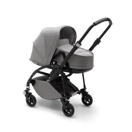 AU - Bee5 pram and bassinet Mineral Grey, Black Chasis
