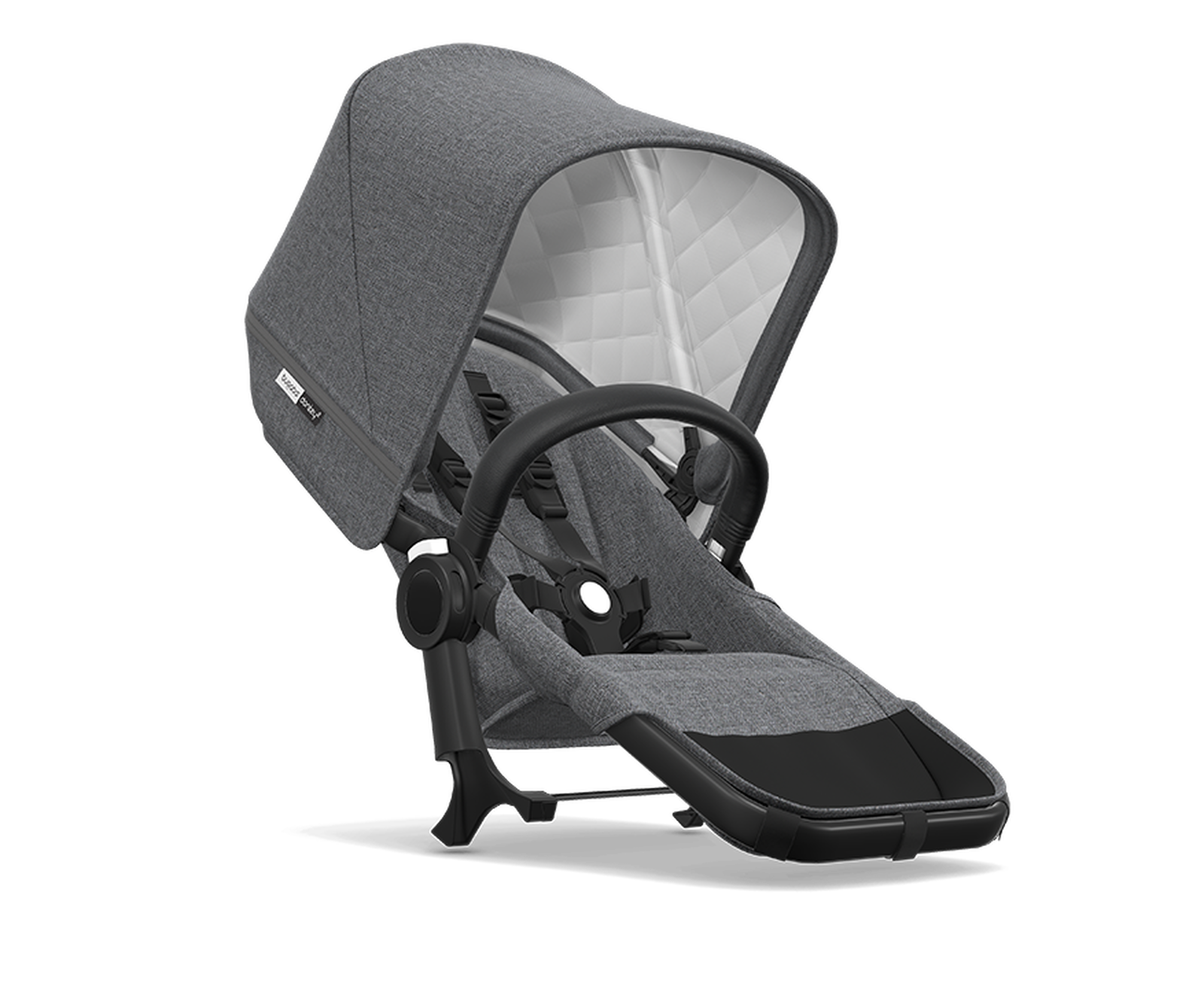 Bugaboo Donkey2 Classic duo ext compl BLACK/GREY MELANGE