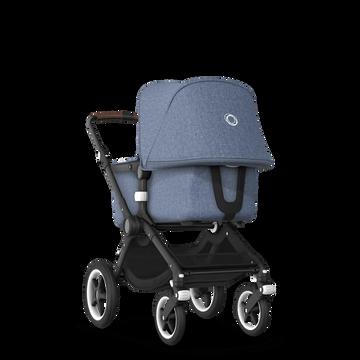 UK - Bugaboo Fox stroller bundle Black blue melange