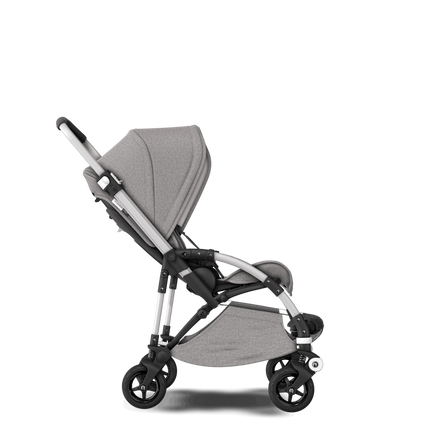 US - B5 stroller bundle aluminum, mineral light grey