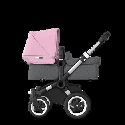 US - D2M stroller bundle aluminum, grey melange, soft pink