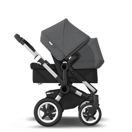 US - D2D stroller bundle aluminum, black, grey melange