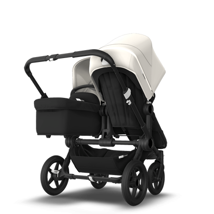Bugaboo Donkey 3 Duo fresh white sun canopy, black seat, black chassis