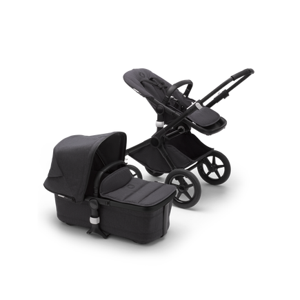 Bugaboo Fox 2 Seat and Bassinet Stroller Washed Black